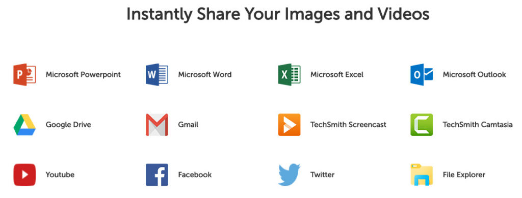Instantly Share Your Images and Videos