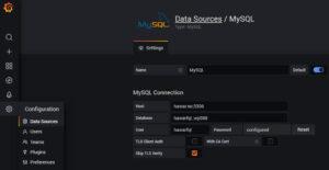 Grafana MySQL input